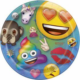 """Rainbow Emoji  7""""  Plates, 8 pieces"""