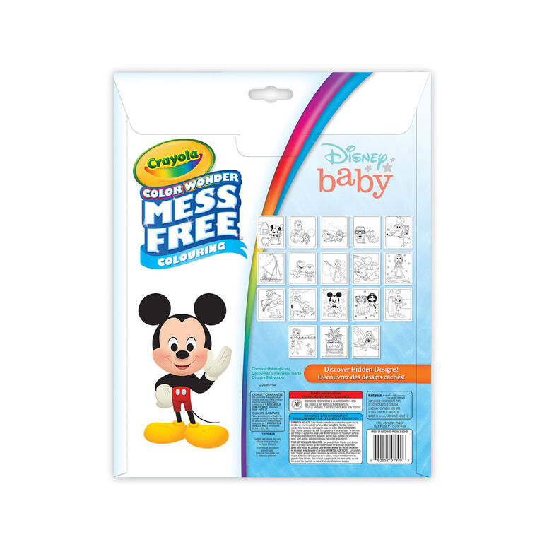 Crayola Color Wonder Mess-Free Colouring Pages & Mini Markers, Disney Baby