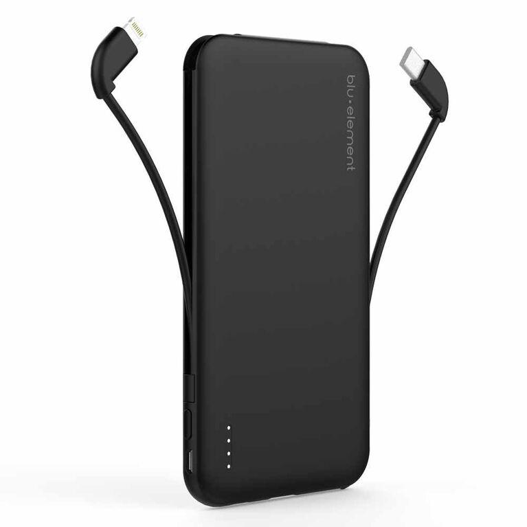 Blu Element Portable Power 5000 mAh Lightning/USB-C/Micro USB