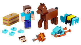 Minecraft - Comic Maker - Coffret de 2 - Figurines Steve and Armoured Horse - Édition anglaise
