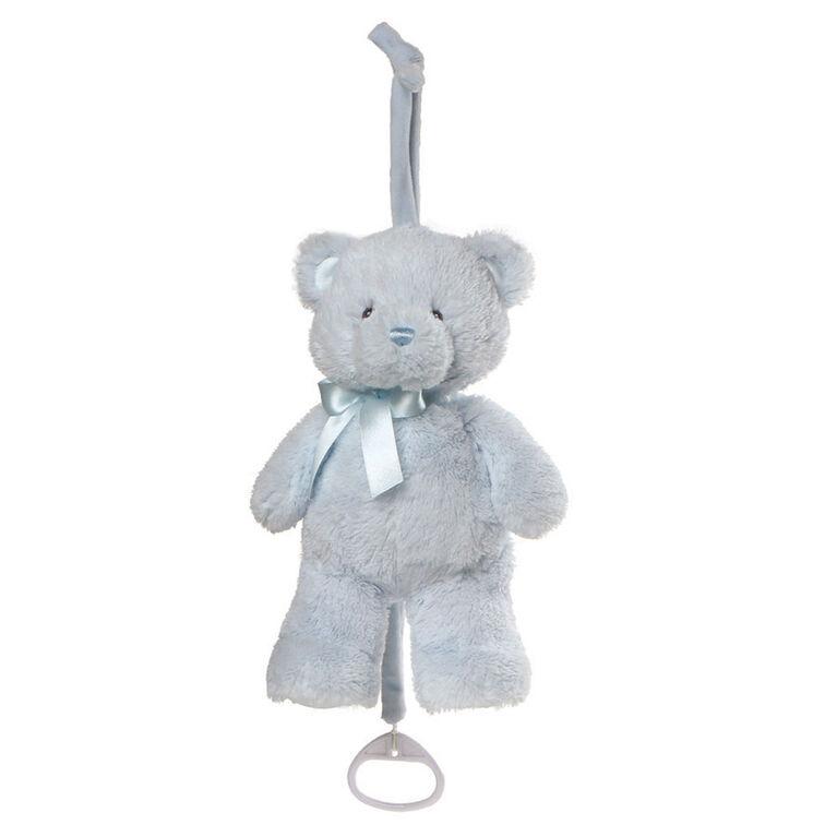 Baby GUND My First Teddy Musical Plush Stuffed Bear, Blue, 10 Inch