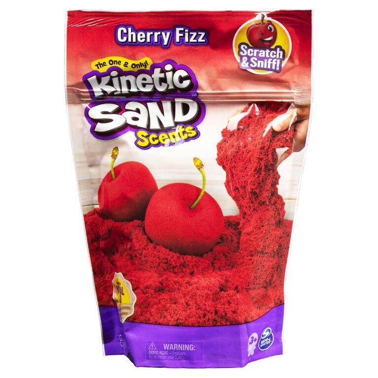 Kinetic Sand Scents, 226g de sable Kinetic Sand rouge, parfum Cerise pétillante
