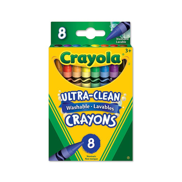 Crayola Ultra-Clean Washable Crayons, 8 Ct