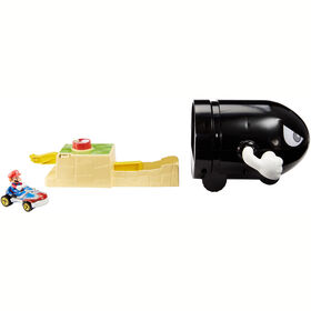 Hot Wheels - Mario Kart - Coffret de jeu Bullet Bill