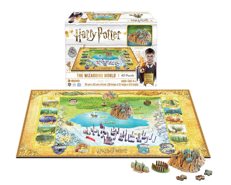 4D Wizarding World of Harry Potter Puzzle - English Edition