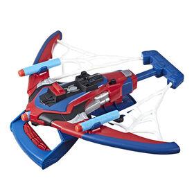 Foudroyeur jouet Arachno-arbalète à technologie NERF Spider-Man Webshots.