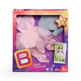 Vêtements de danse à la mode pour ballerine pour poupée de 45,7 cm (18 po) de B Friends.