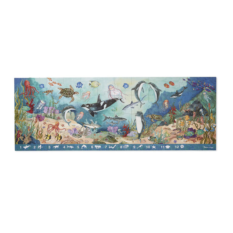 Melissa & Doug Search and Find Beneath the Waves Floor Puzzle - 48 pieces - over 121.92cm long - English Edition