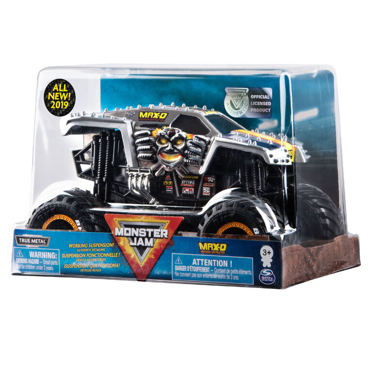 Monster Jam, Official Max D Monster Truck, Die-Cast Vehicle, 1:24 Scale.