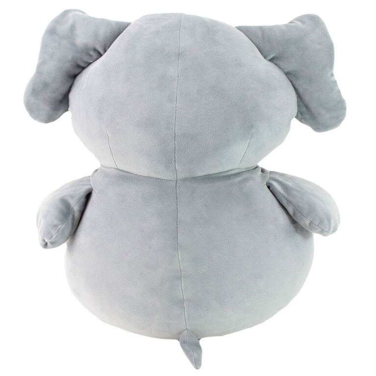 Animal Adventure Squeeze with Love - Jumbo Plush Elephant - Gray