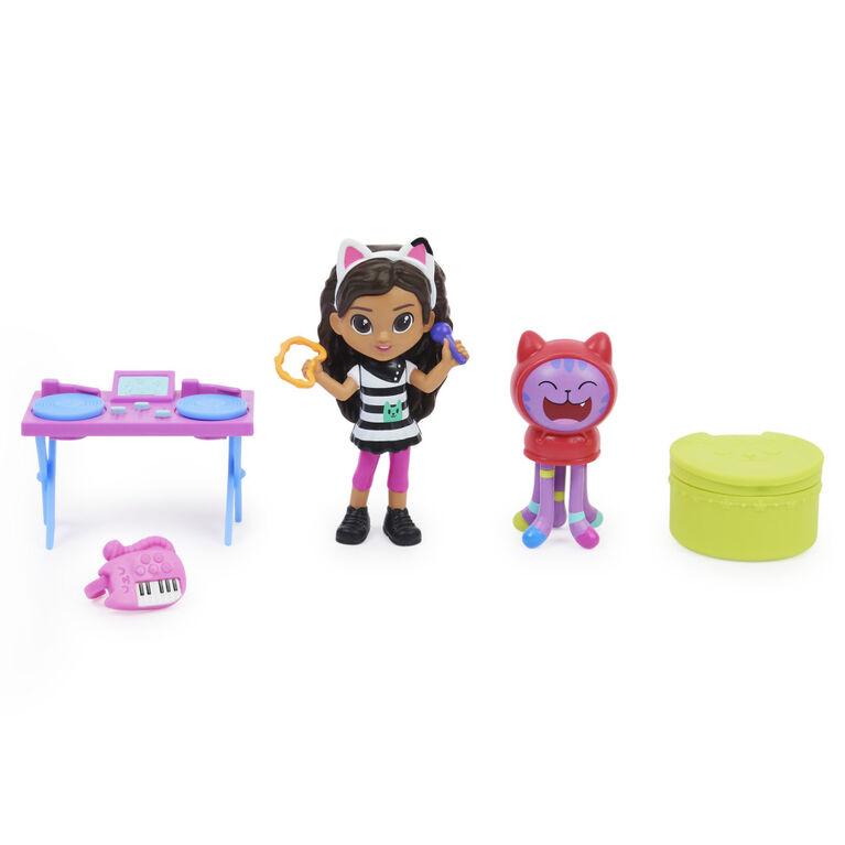 DreamWorks, Gabby's Dollhouse, Coffret Kitty Karaoke avec 2 figurines jouets, 2 accessoires, boîte surprise et meuble