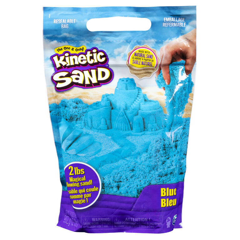 Kinetic Sand, 907g de Kinetic Sand bleu pour mélanger, modeler et créer