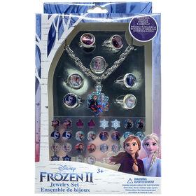 Frozen II Jewelry Set- Bracelet, Rings And Stick-On Earrings