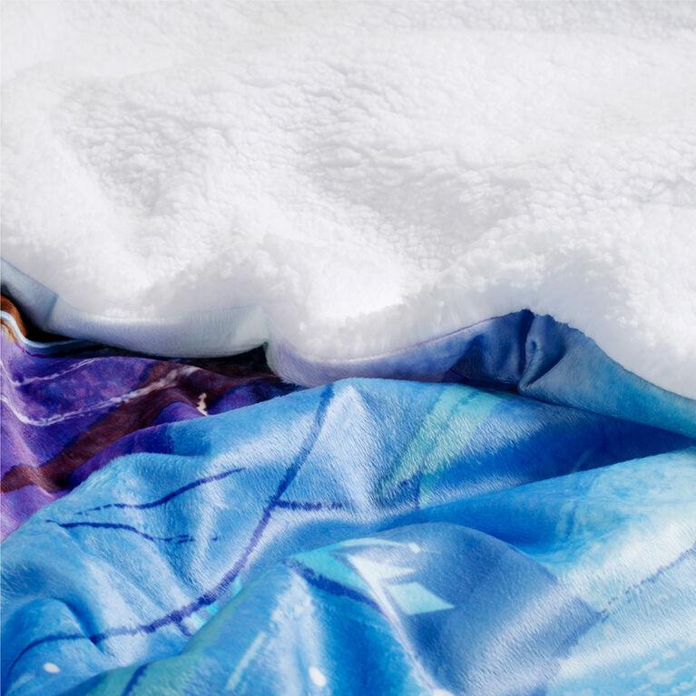 Couverture Sherpa de la reigne des neiges Disney, 60 x 80 pouces