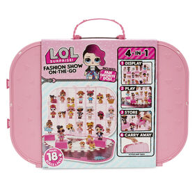L.O.L. Surprise! Fashion Show On-the-Go Storage Case & Playset with Doll - Light Pink