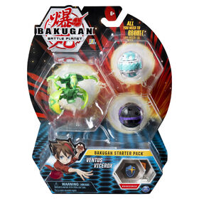 Bakugan, Starter Pack 3 personnages, Ventus Vicerox, Créatures transformables à collectionner