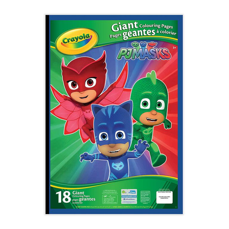 Giant Colouring Pages, PJ Masks