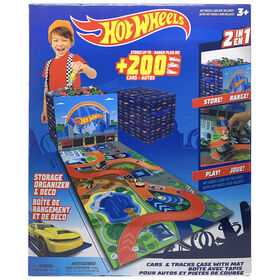 Hot Wheels Stoarge Case and Mat - Blue