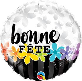 Ballon Métallique 46 Cm Bonne Fete De Qualatex