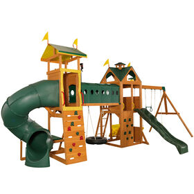 Mockingbird View Wooden Swing Set/Plyset