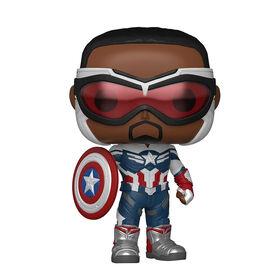Figurine en Captain America par Funko POP! Falcon and The Winter Soldier