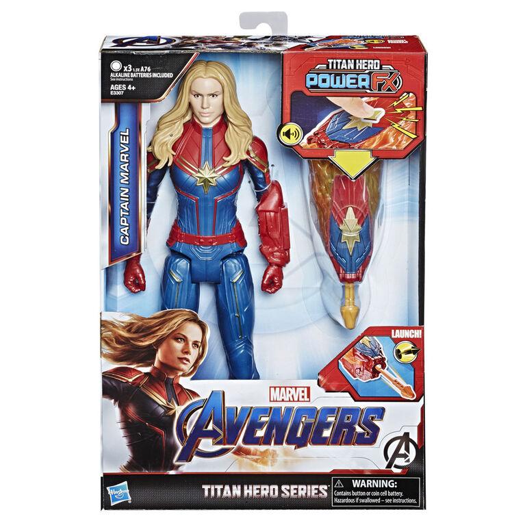 Marvel Avengers : Phase finale Titan Hero Power FX - Figurine Captain Marvel.
