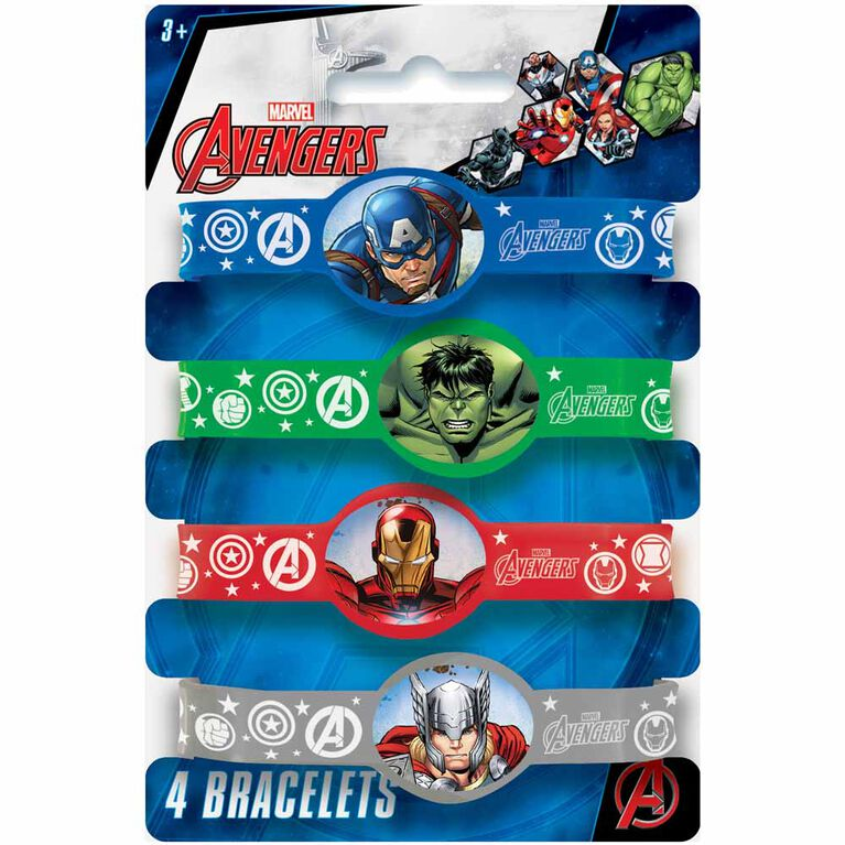 Avengers Stretchy Bracelets, 4 pieces