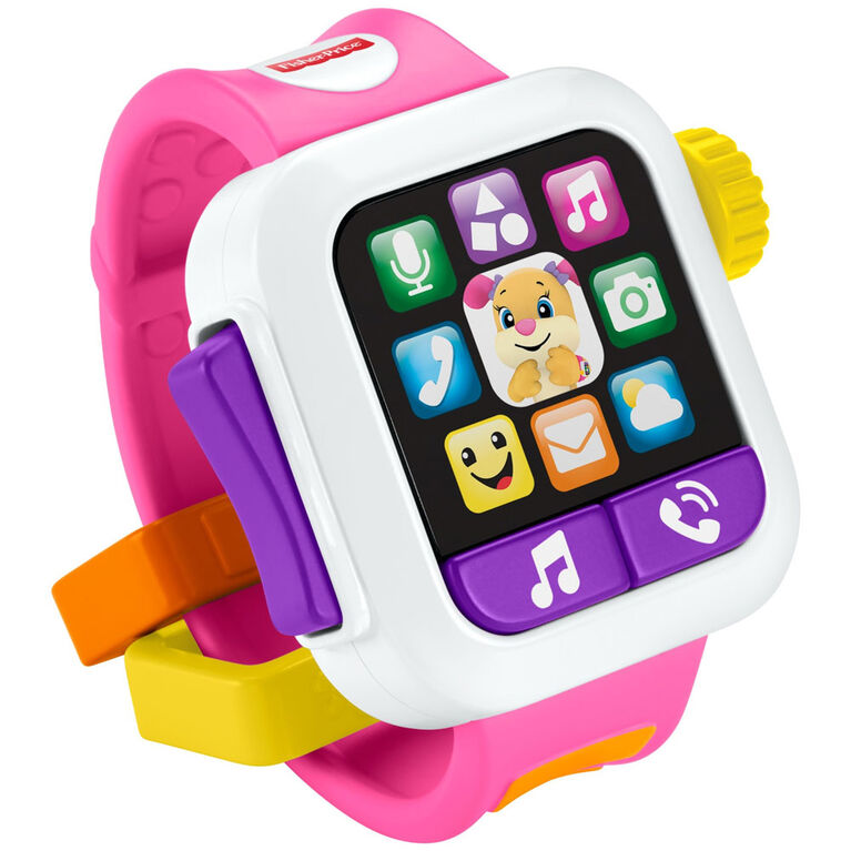 Fisher-Price Laugh & Learn Time to Learn Smartwatch - English Edition