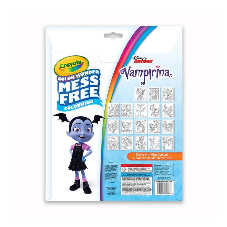 Pages et mini marqueurs Crayola Color Wonder sans dégâts Vampirina