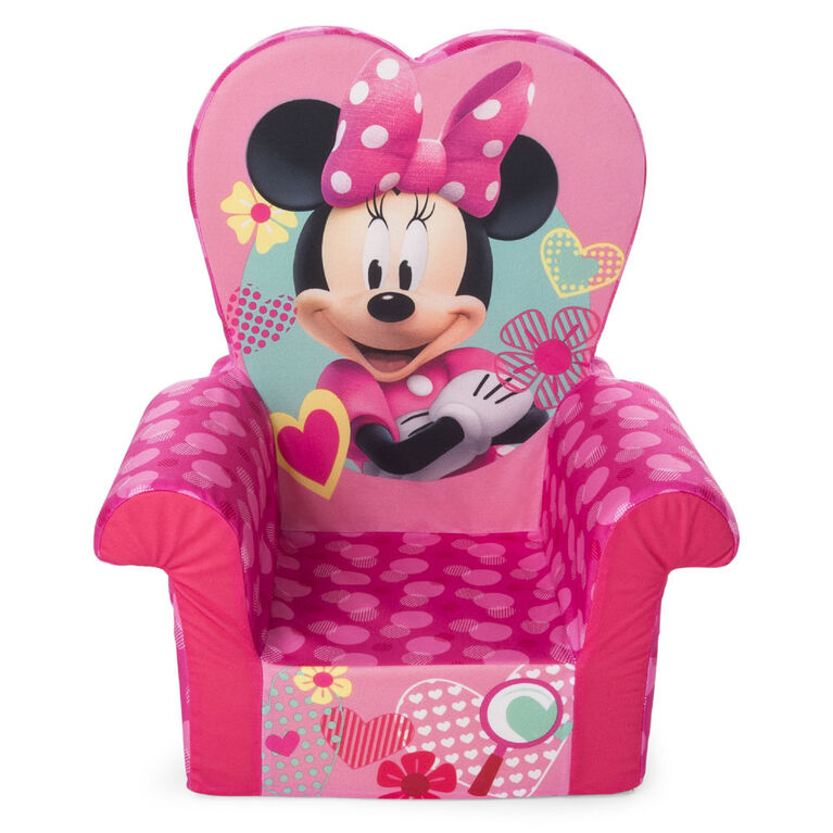 Marshmallow Furniture - Children's Foam High Back Chair - Disney's Minnie Mouse