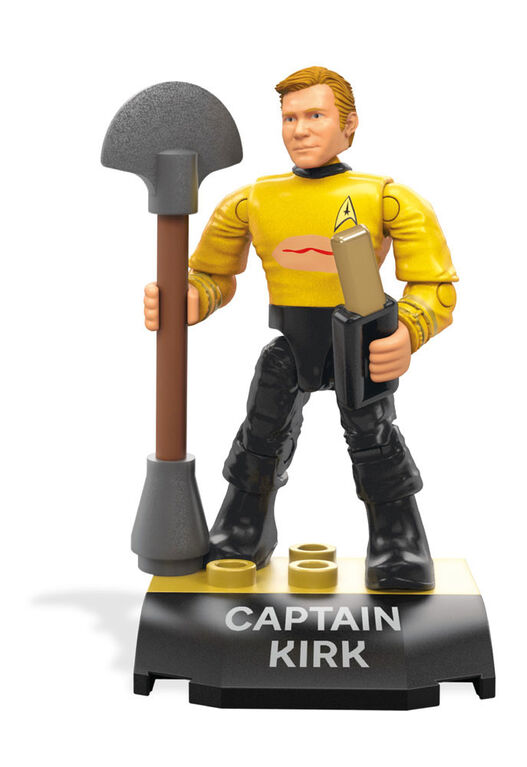 Mega Construx Heroes Star Trek Captain Kirk Micro Action Figure