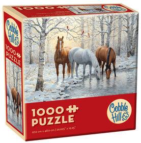 Casse-tête de 1000 pièces - Trio de chevaux