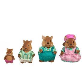 Bushytail Écureuils, Li'l Woodzeez, Ensemble de petites figurines d'écureuils