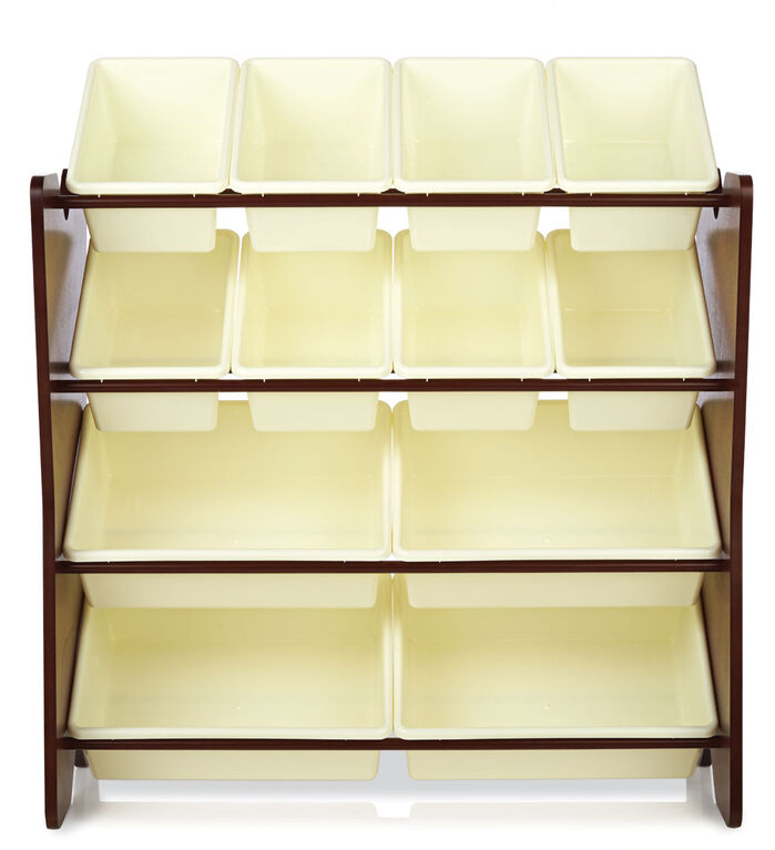 Imaginarium Storage Bin Rack with 12 Bins Espresso