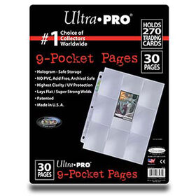 Ultra Pro - 9-Pocket Pages - 30 Pack