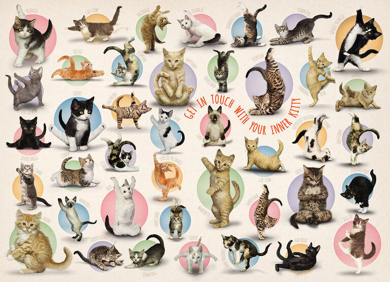 Eurographics Yoga Kittens Oversize 300 pc Puzzle