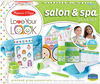 Melissa & Doug - Love Your Look Salon & Spa Play Set - 16 Pieces for Pretend Toy Hair and Face Care (No Real Cosmetics)