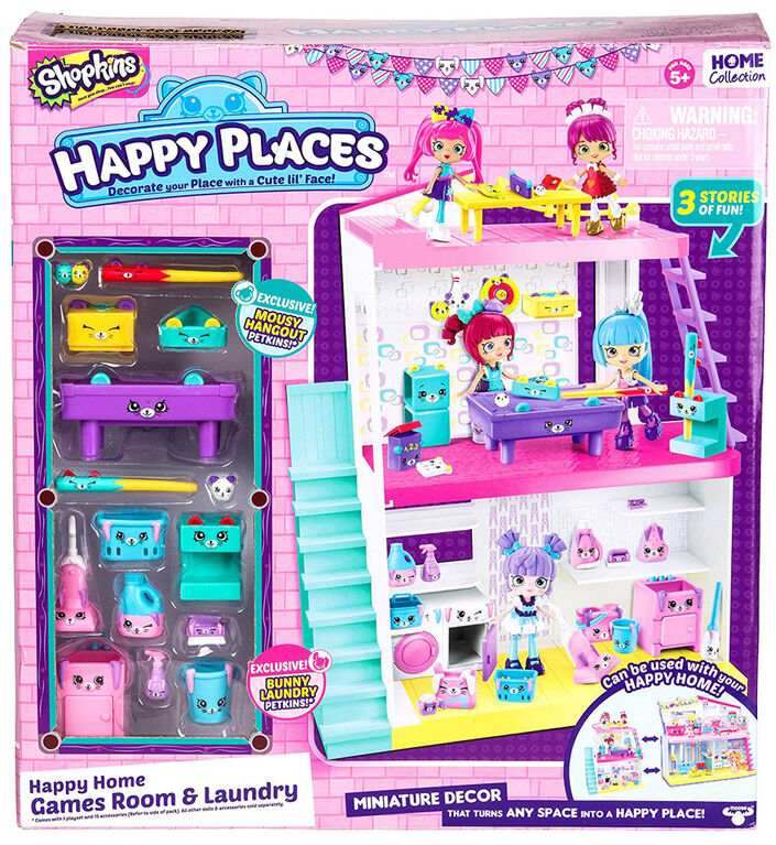 Shopkins Happy Places Happy Home Games Room & Laundry