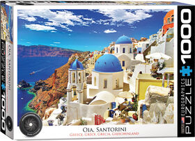 Eurographics Santorini Greece 1000 Piece Puzzle