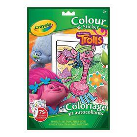 Colour & Sticker Book, Trolls