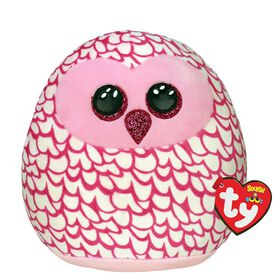 Ty Squish Pinky Pink Owl 14 inch
