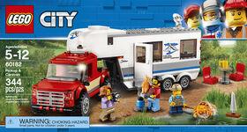 LEGO City Great Vehicles Le pick-up et sa caravane 60182