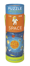 Crocodile Creek - Space Exploration 200 piece Jigsaw Puzzle and Matching Poster