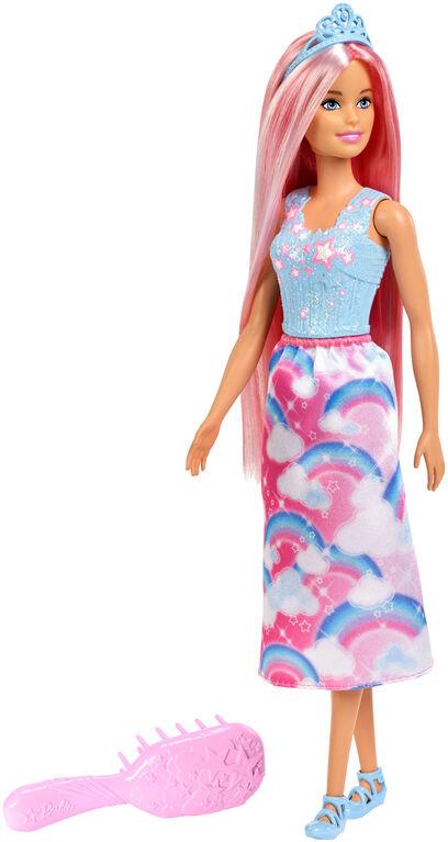 Barbie - Dreamtopia - Poupée Princesse, cheveux roses