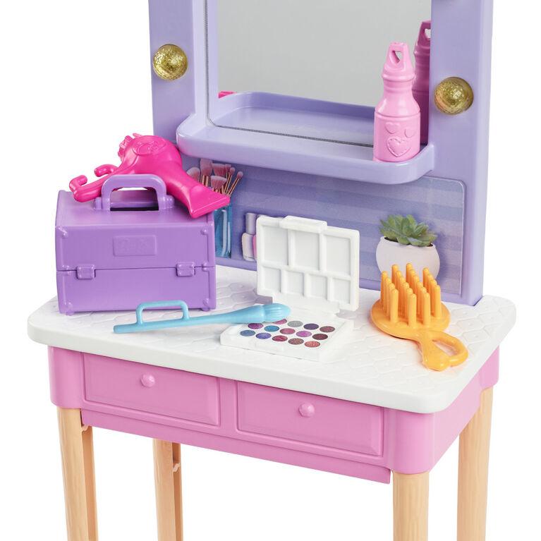 "Barbie: Barbie Big City Box, Big Dreams Dressing Room of Star with Barbie Doll ""Malibu"" (approx. 30 cm, Blonde) with Accessories"