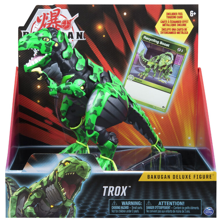 Bakugan, Trox, 6.5-Inch Collectible Action Figure with Foil Ability Card