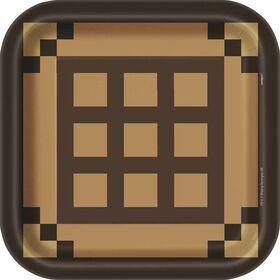 "Minecraft Square 9""  Plates 8 pieces"