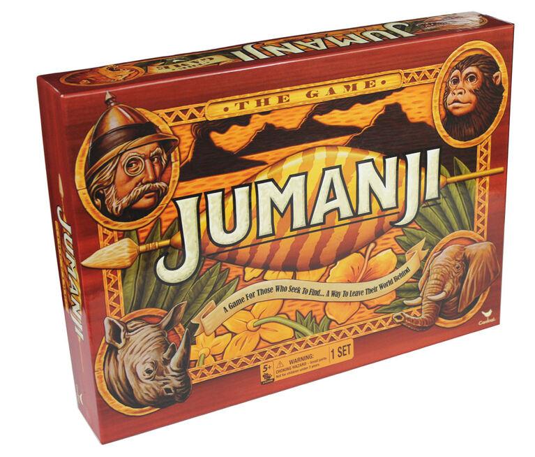 Jumanji - Jeu de société rétro classique des années 90 - Édition anglaise - les motifs peuvent varier
