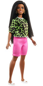 Barbie Fashionistas Doll #144 with Long Braids in Neon Look