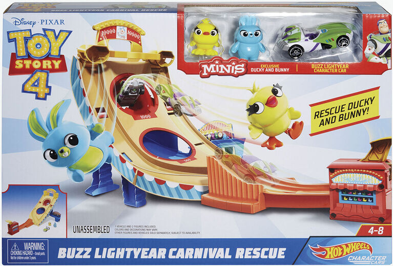 Hot Wheels Disney Pixar Toy Story Buzz Lightyear Carnival Rescue - Édition anglaise.